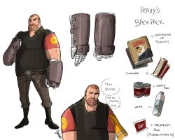 TF2- Forsaken : Heavy studies . by camiluna27
