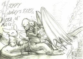 Happy Holidays, Dino-mate! by Joel-Swedish-Dragon