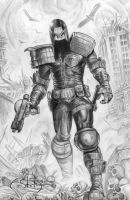 Dredd (Greg Staples) Sketch 01 by pagandevil