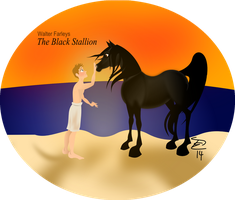 The Black Stallion by TashiMenefuseArt