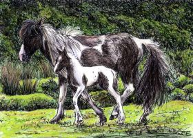 Mare And Foal by delph-ambi
