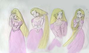 tangled: Rapunzel quick color by LeonarD-Z