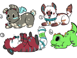 chibi adopts (30 points each) by yoshll