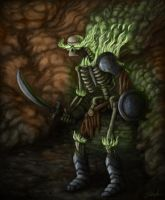 Skeletal Warrior by johnlea