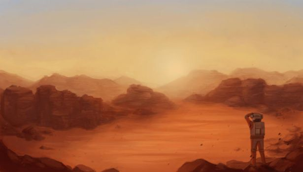 The Martian - Mars Surface by FiSilva