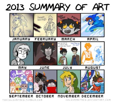 2013 Summary of Art by colourmefred
