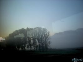 Vision of a dawn, just before to arrive to Rome by Kayleyn