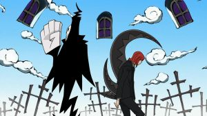 Shinigami and Death Scythe by Sensei-kun
