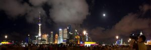Shanghai Skyline: The Night is Young by kabre