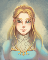 Princess Zelda by pyromaanii
