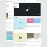 Metronomy Free Homepage PSD by elemis