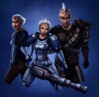 SWToR - Commission - Imoshi, Neehowe and Kontanbu by clockworkconfusion