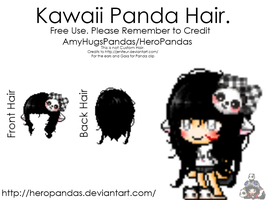 Kawaii Mixed Panda Hair :D by HeroPandas