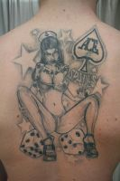 Pinup Dices Stars Tattoo by 2Face-Tattoo