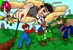 Achievement Hunter: Lets Play New Super Mario Bros by SaintsSister47