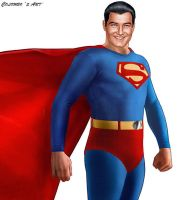 GEORGE REEVES AS SUPERMAN by supersebas