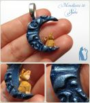 Mondkatze 16: Sam Polymer clay cat by Talty