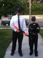 Halloween 2012 The impostor and the real bat by SuperNinjaAlex