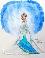 Snow Queen Inspired Dress by angelaaasketches