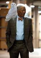 Lucius Fox and His Daemon by LJ-Todd