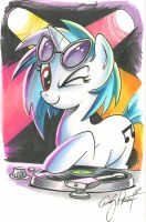 Vinyl Scratch marker sketch, My Little Pony by andypriceart