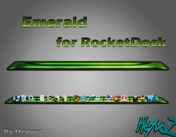 Emerald for Rocketdock by Heyvoz