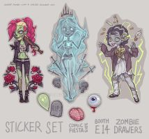 Monster Girl Stickers by Zae369