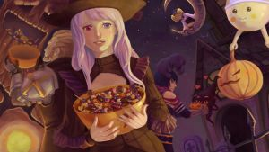 Spooktacular contest - Aione in Niflheim by CLOCKMANIAK