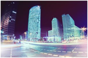 Potsdamer Platz, Berlin at Night by pixelimage