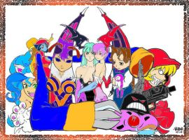 The Darkstalkers Ladies by TheArtributor