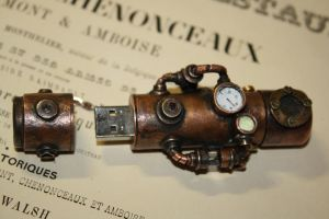 steampunk USB flash drive by Marseau