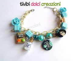 Japan inspired bracelet - Blue version by tivibi