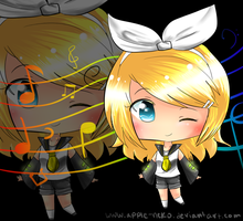 : Chibi Rin Kagamine : by Apple-Neko