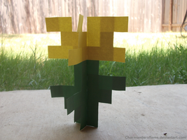 Minecraft Dandelion by CharmandersFlame