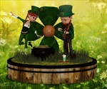 Little Leprechauns by Frollein-Zombie