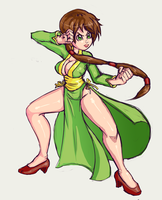 Green Chinese Dress by CrypticManifestation