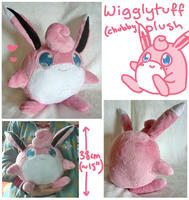 chubby wigglytuff plush by scilk
