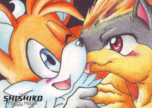 Tails and Quilava by Pichu-Chan