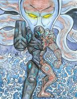 Dark Samus Coloured by KrewL-RaiN
