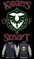 LOZ SS Skyloft Knight Academy Varsity Jacket by Enlightenup23