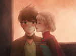 Kiss on the cheek by frozenblume
