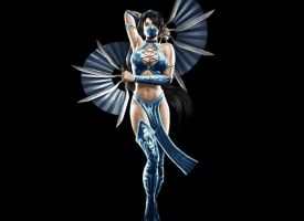 Kitana Mortal Kombat 9 render by deexie