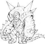 Chesnaught #1- colorless by TheLaughingChimera