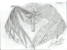 wings and cross by YellowRoseofTexas