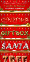 Photoshop Christmas Text Effect 2014 by Dabbexsahi by dabbex30