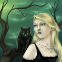 Black soul of a cat by Psunna