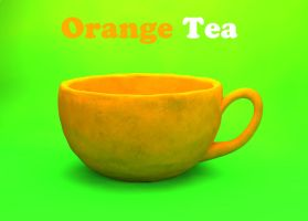 Orange teacup by hamsonb