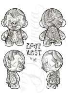East West mini Munny by dfmurcia