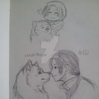 More Inu!Russia and China doodle by Ouivon