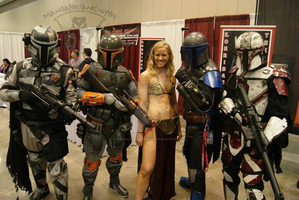 Slave Leia and her body guards by MandalorianKnight